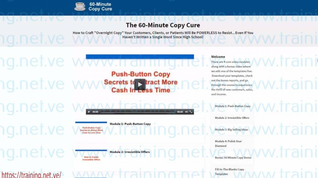 60 Minute Copy Cure By Doberman Dan And Terry Dean Free