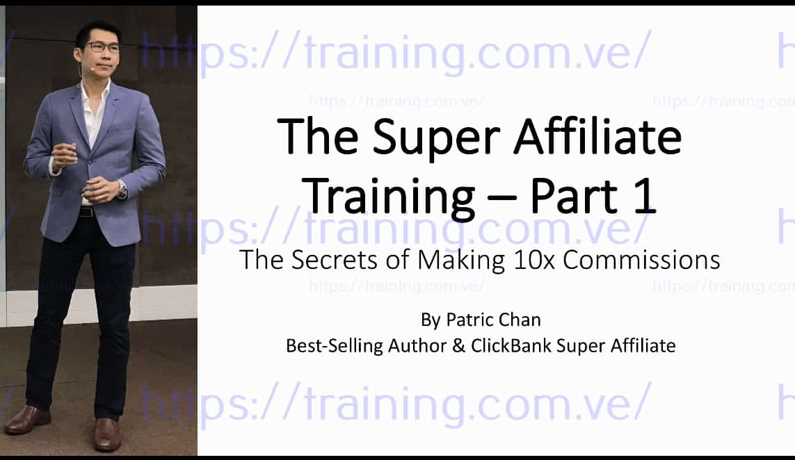 Free CB Super Affiliate Training by Patric Chan