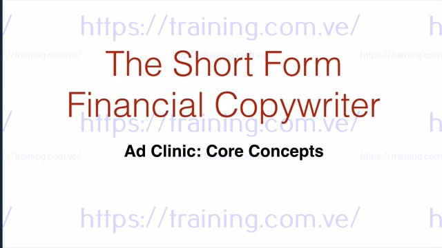 The Short Form Financial Copywriter by Jake Hoffberg get