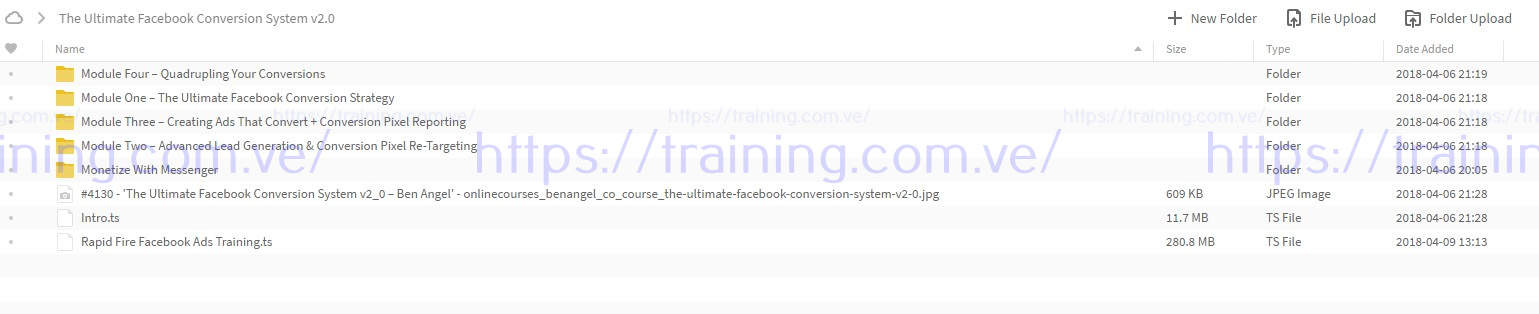 The Ultimate Facebook Conversion System v2.0 by Ben Angel torrent