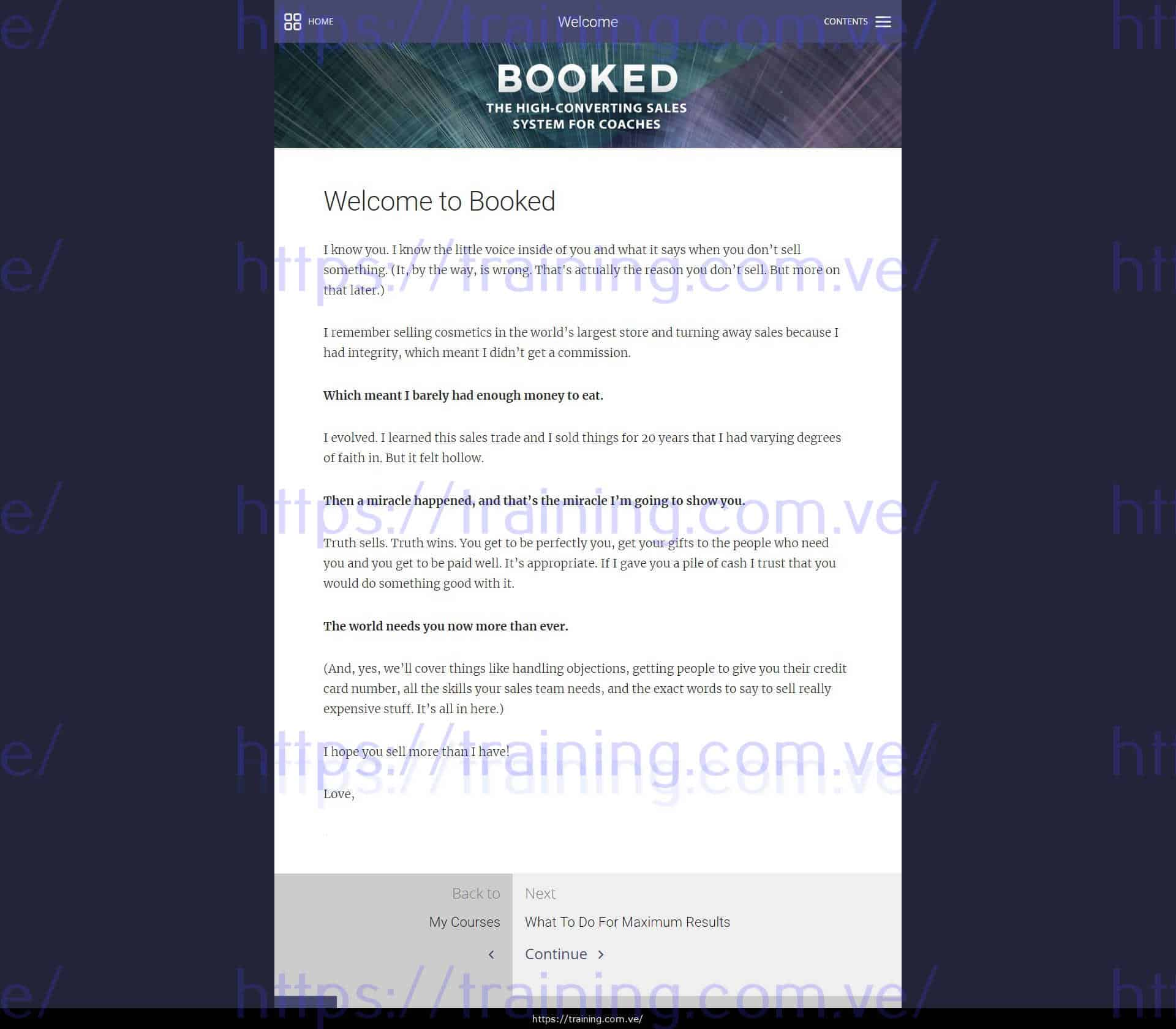 Booked by Lindsay Wilson from Evercoach Download
