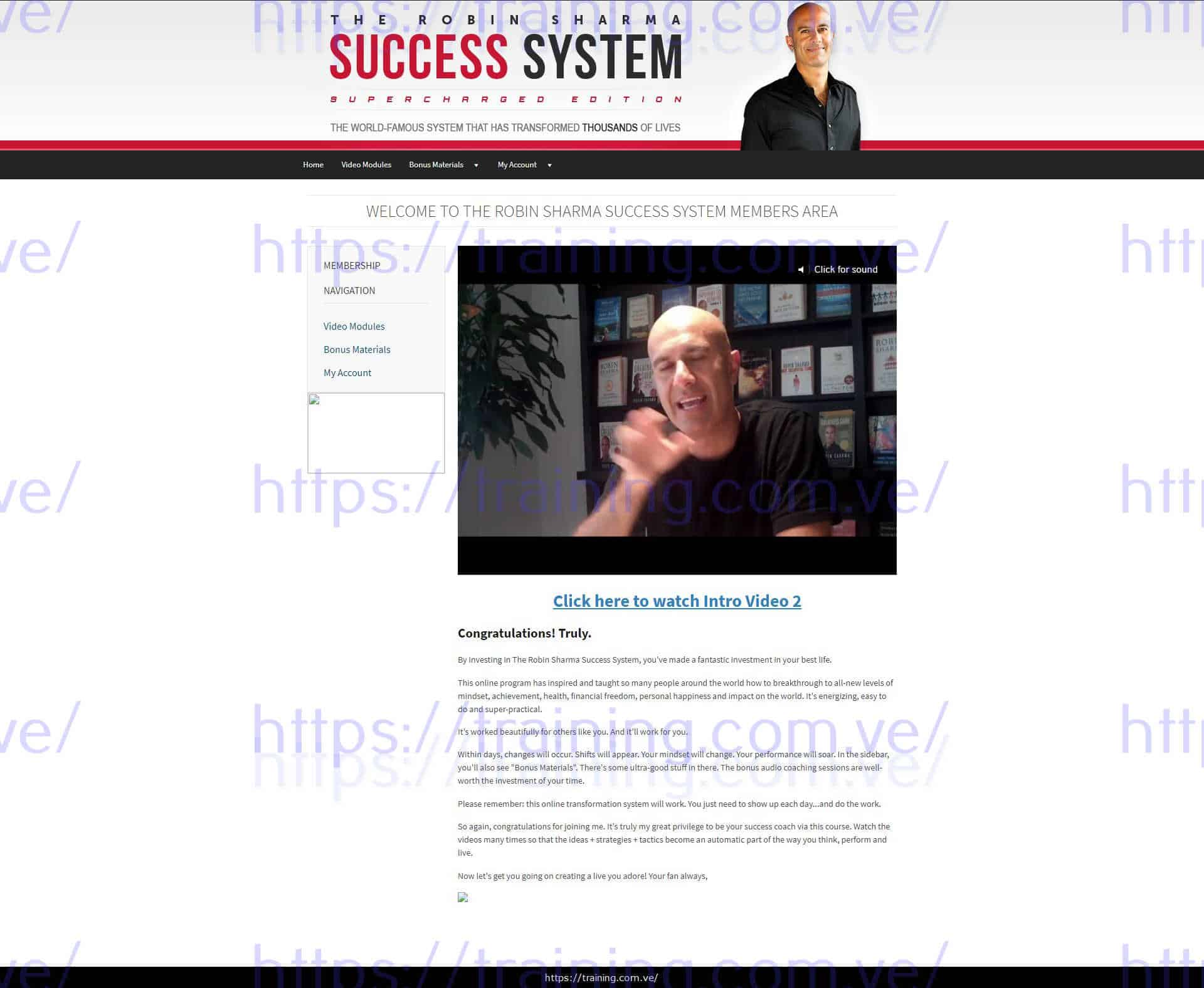 Robin Sharma Success System Download
