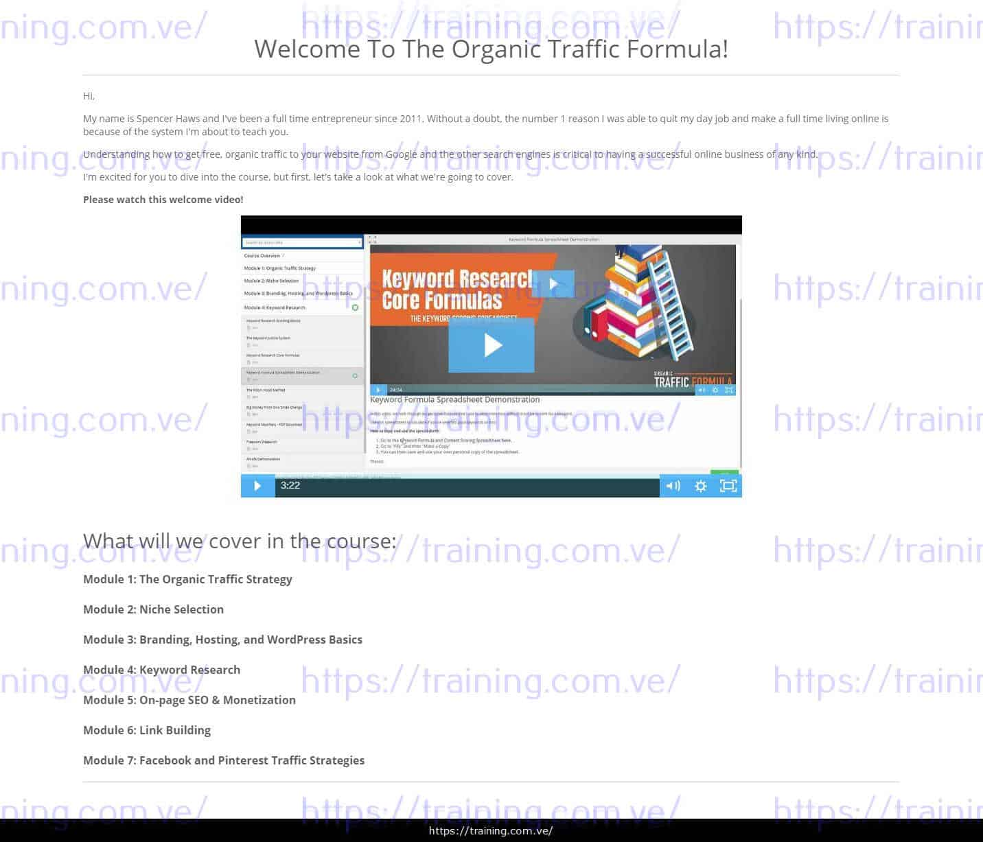 The Organic Traffic Formula by Spencer Haws Download