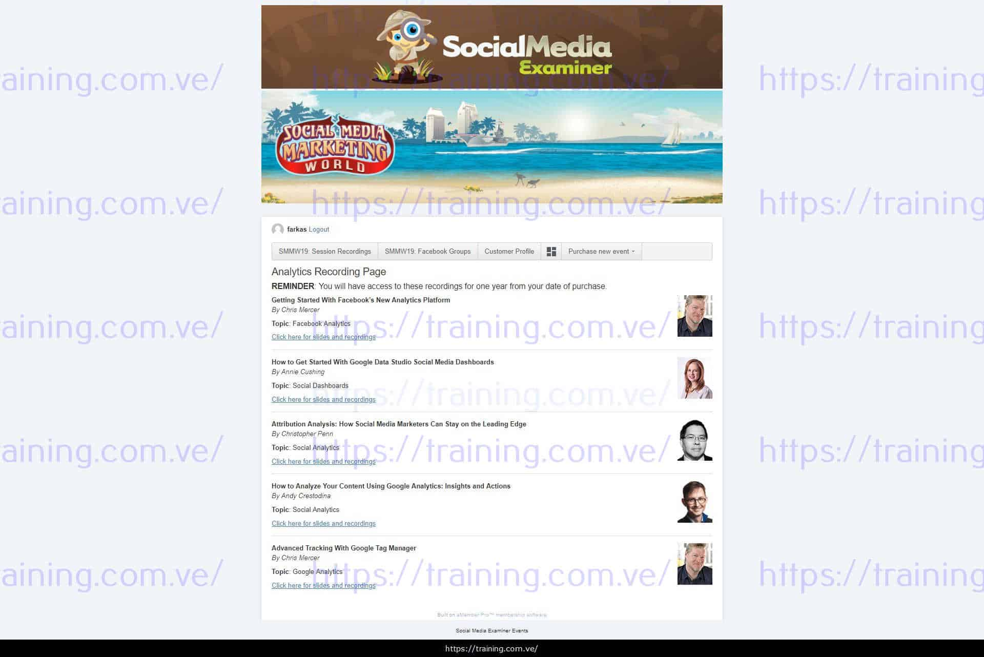 Social Media Marketing World 2019 Recordings free