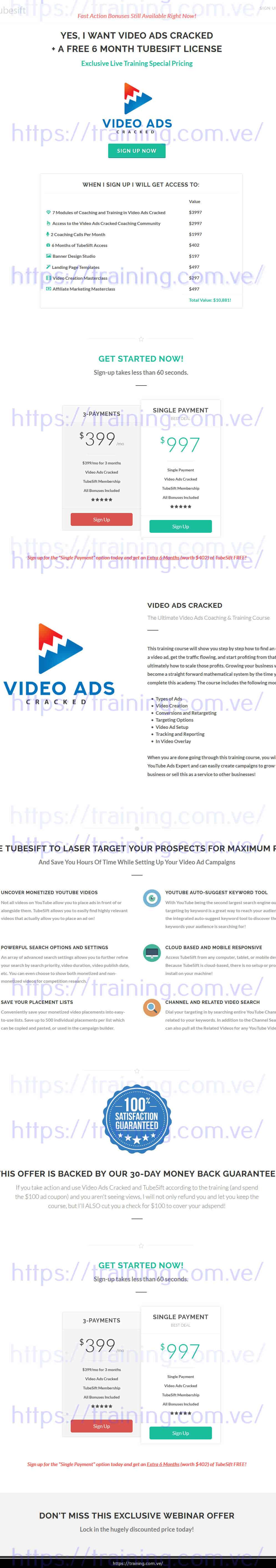 Video Ads Cracked by Justin Sardi Sales page