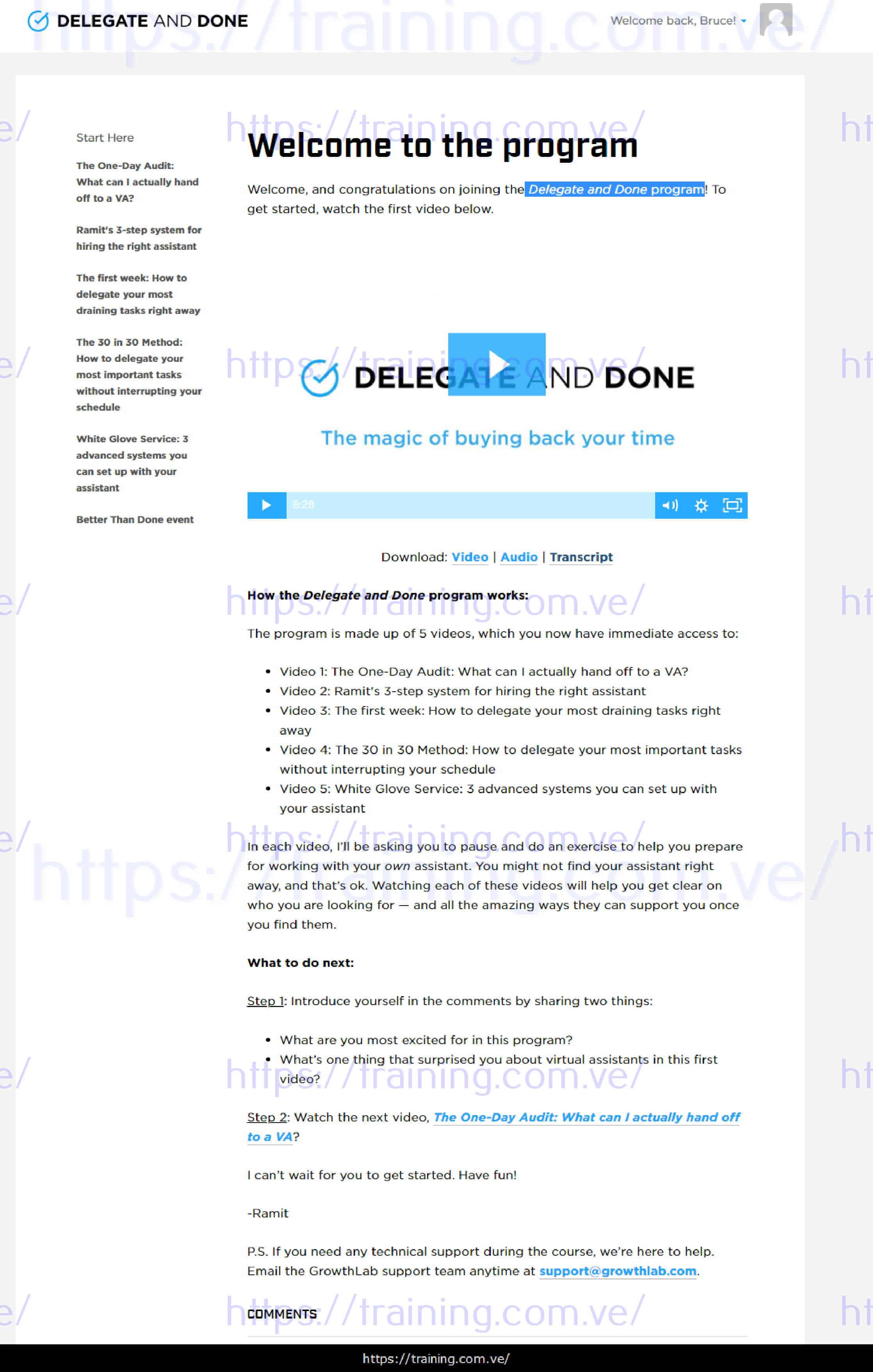 Delegate and Done by Ramit Sethi Download