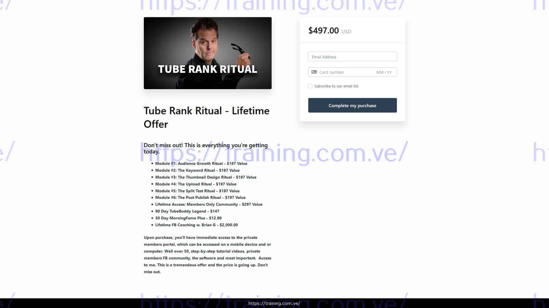 Tube Rank Ritual by Brian G Johnson Buy
