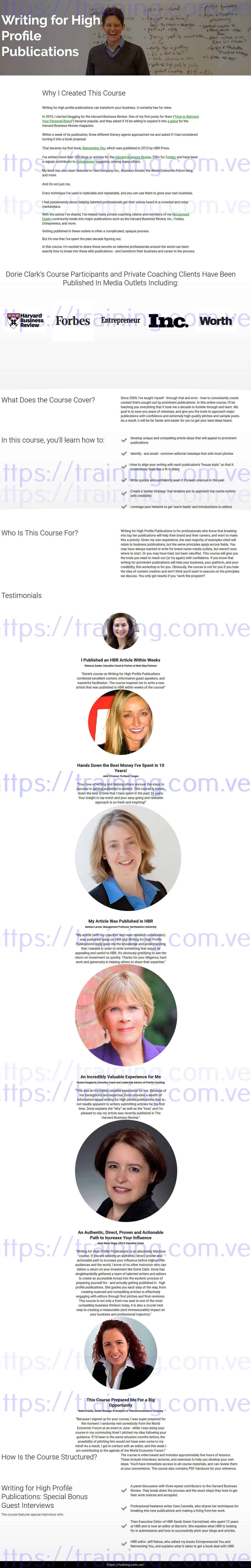 Writing for High Profile Publications by Dorie Clark Buy