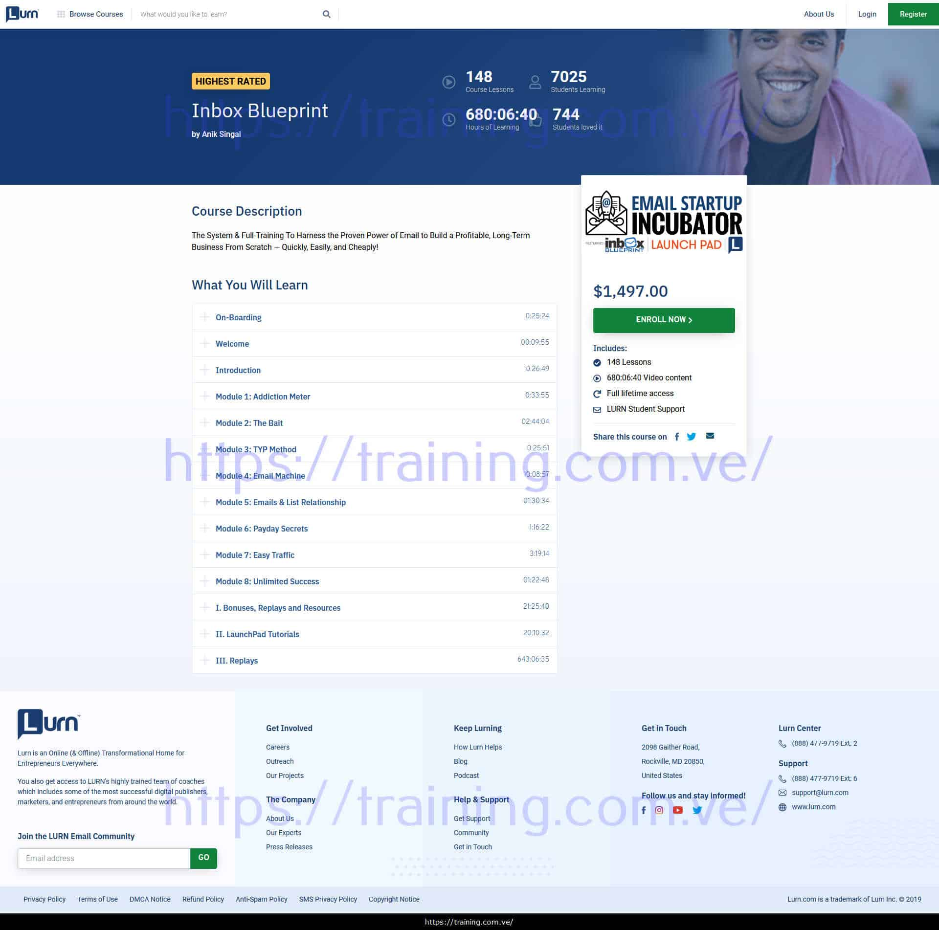 Inbox Blueprint by Anik Singal Buy