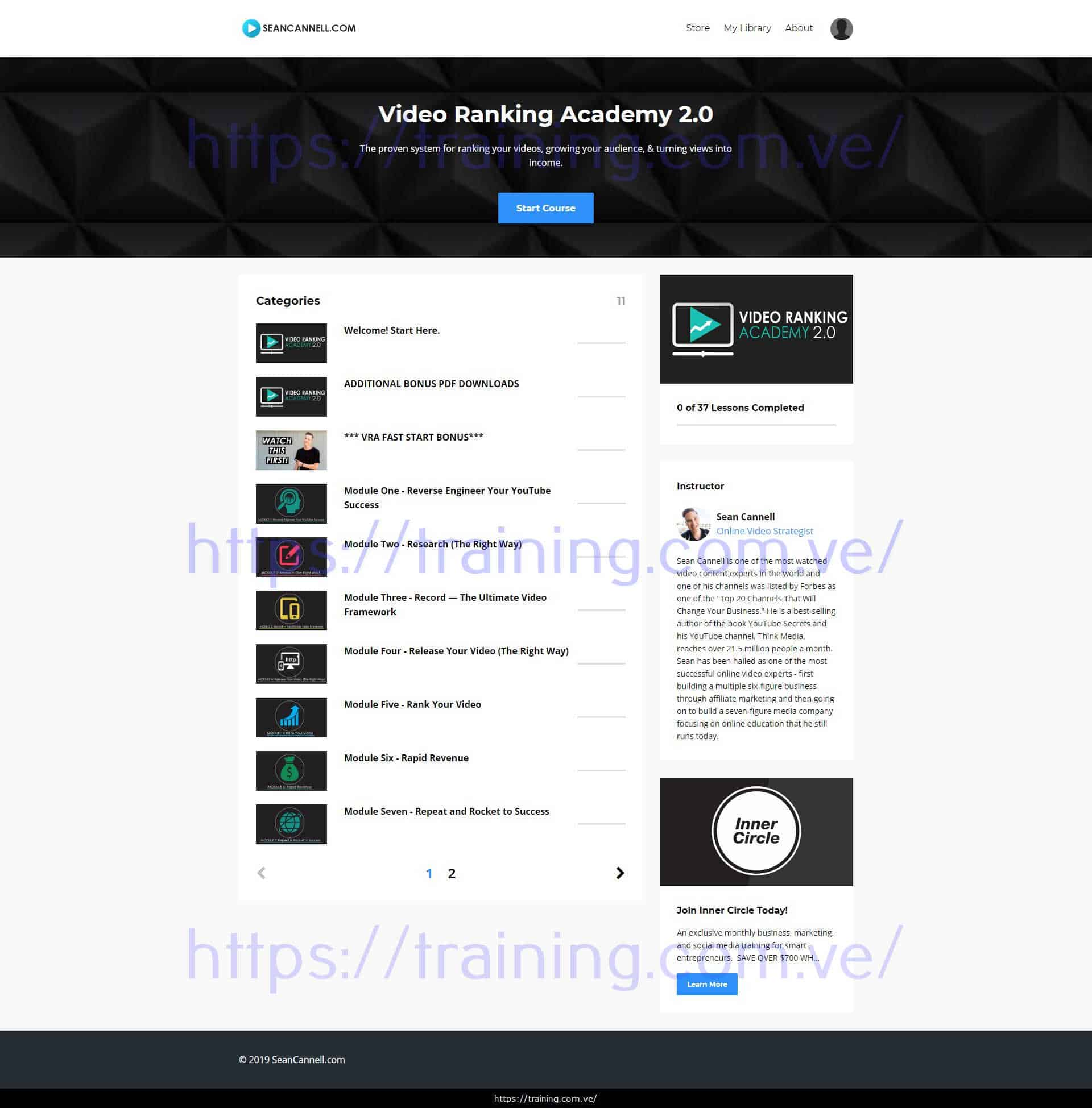 Video Ranking Academy 2.0 2020 by Sean Cannell Download