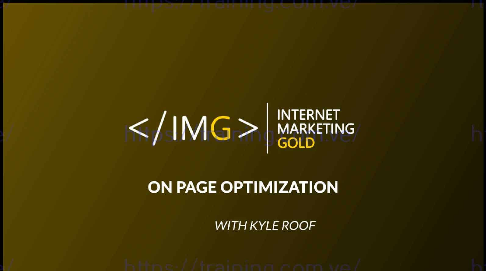 On Page SEO w Kyle Roof Download