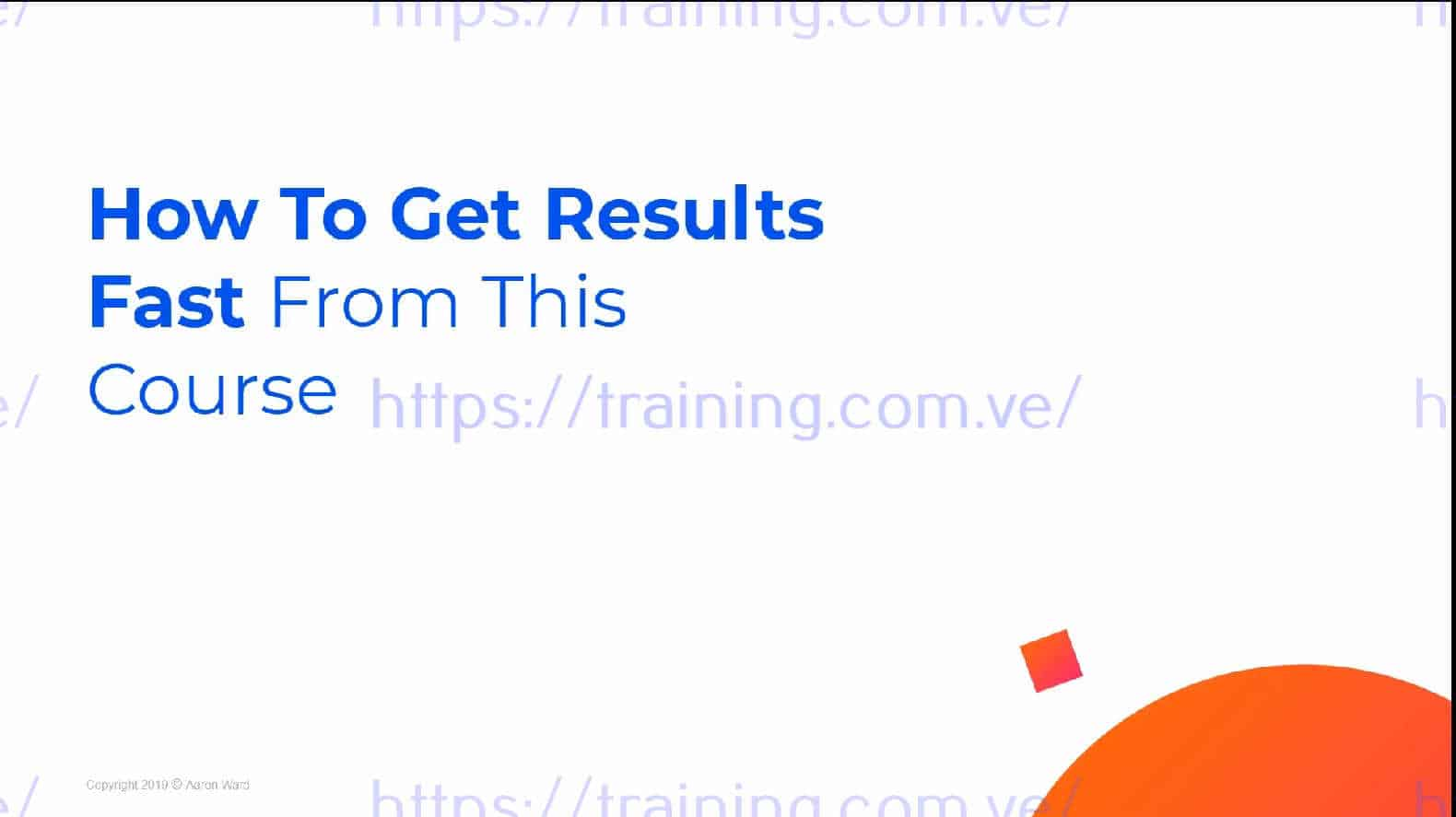 Profitable Course Academy by Aaron Ward Get