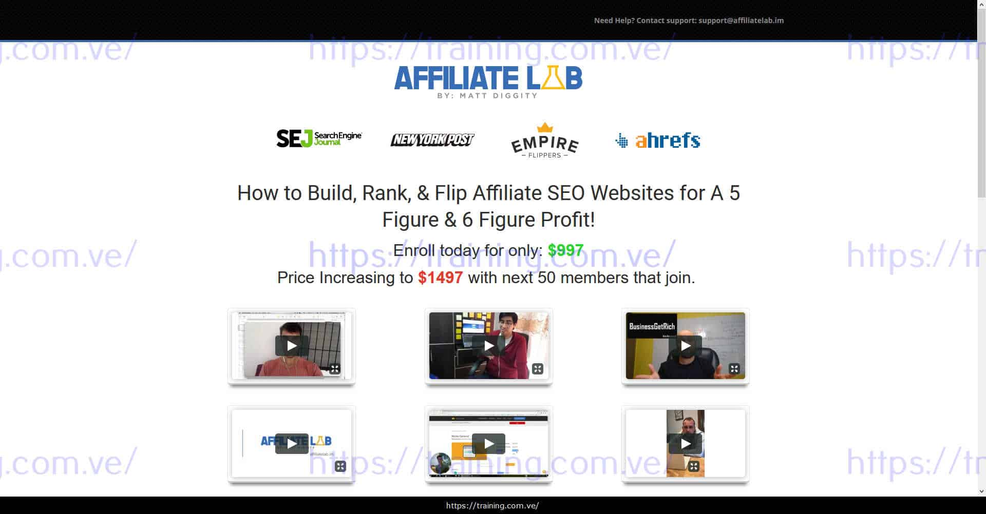 The Affiliate Lab by Matt Diggity Buy