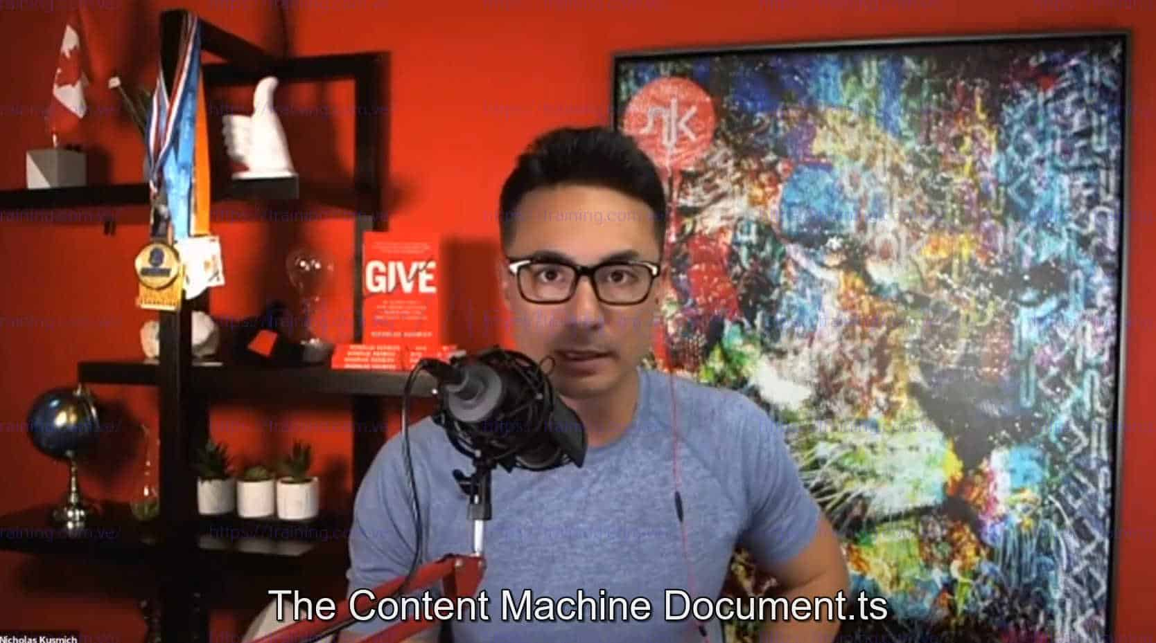The Content Machine by Nicholas Kusmich Discount