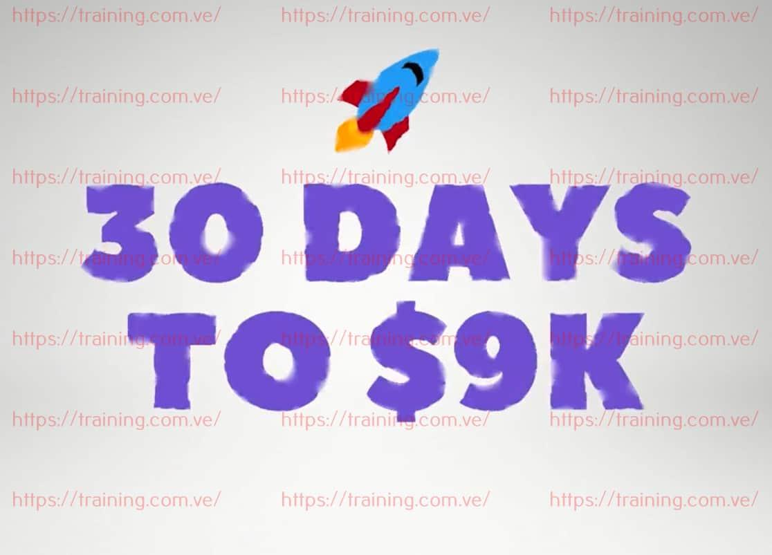30 Days to $9K by Robert Allen Order