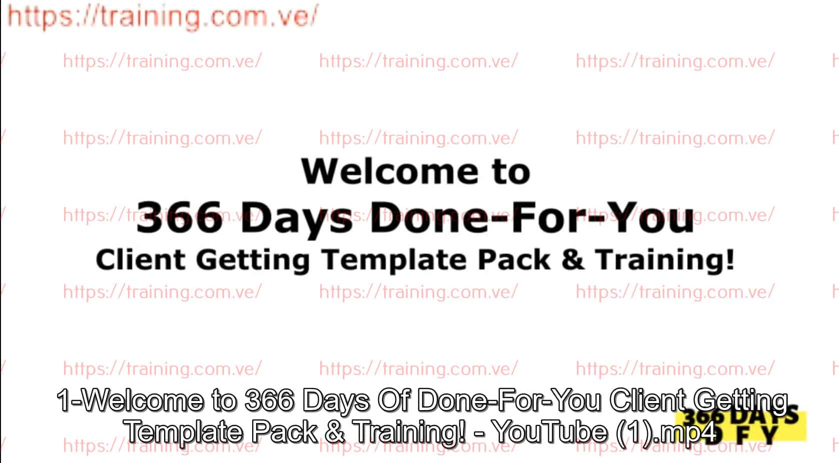 366 Days of Done-For-You Client Getting by Mike Shreeve Discount