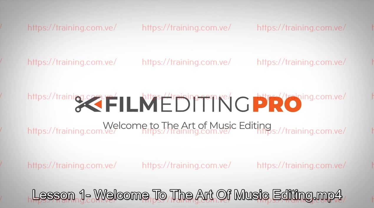 The Art Of Music Editing by Film Editing Pro Order