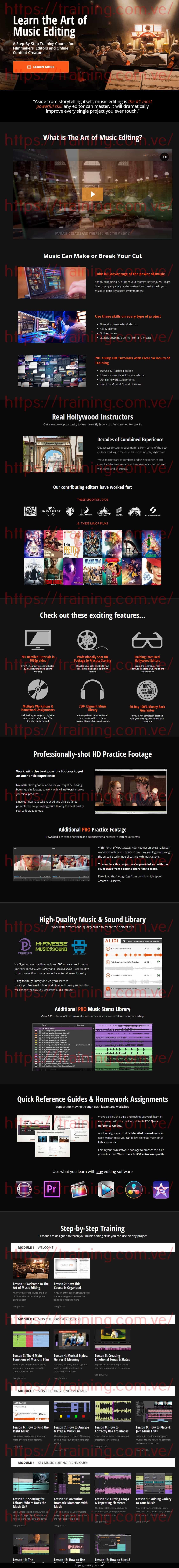 The Art Of Music Editing by Film Editing Pro Sales Page