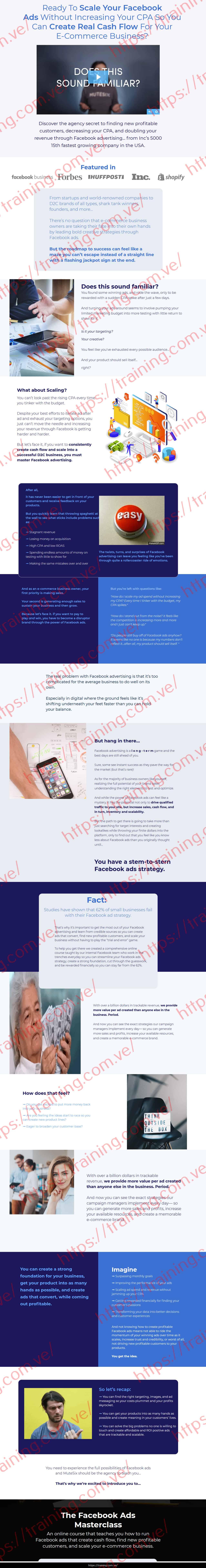 MuteSix Facebook Ads Masterclass Sales page