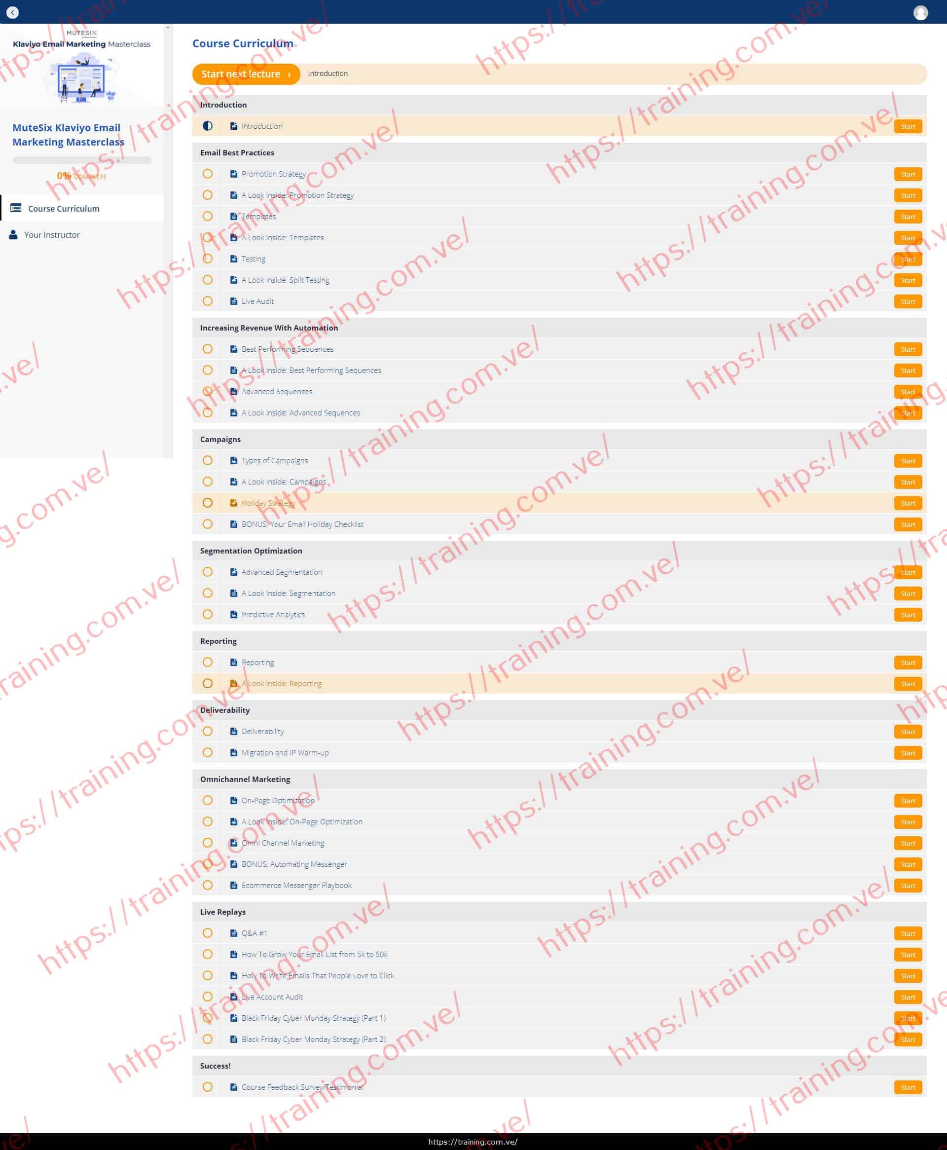 MuteSix Klaviyo Email Marketing Masterclass Buy