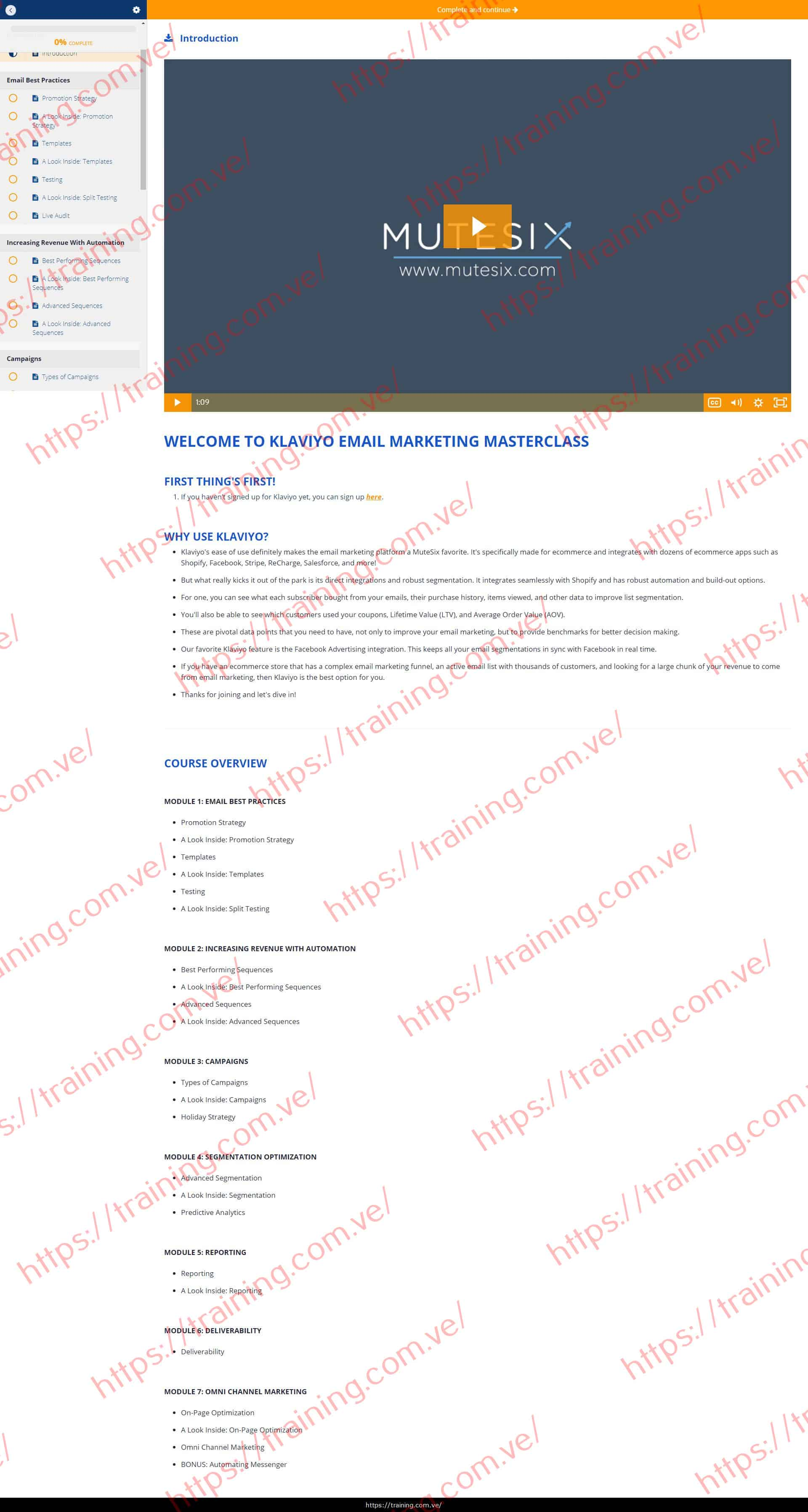 MuteSix Klaviyo Email Marketing Masterclass Discount