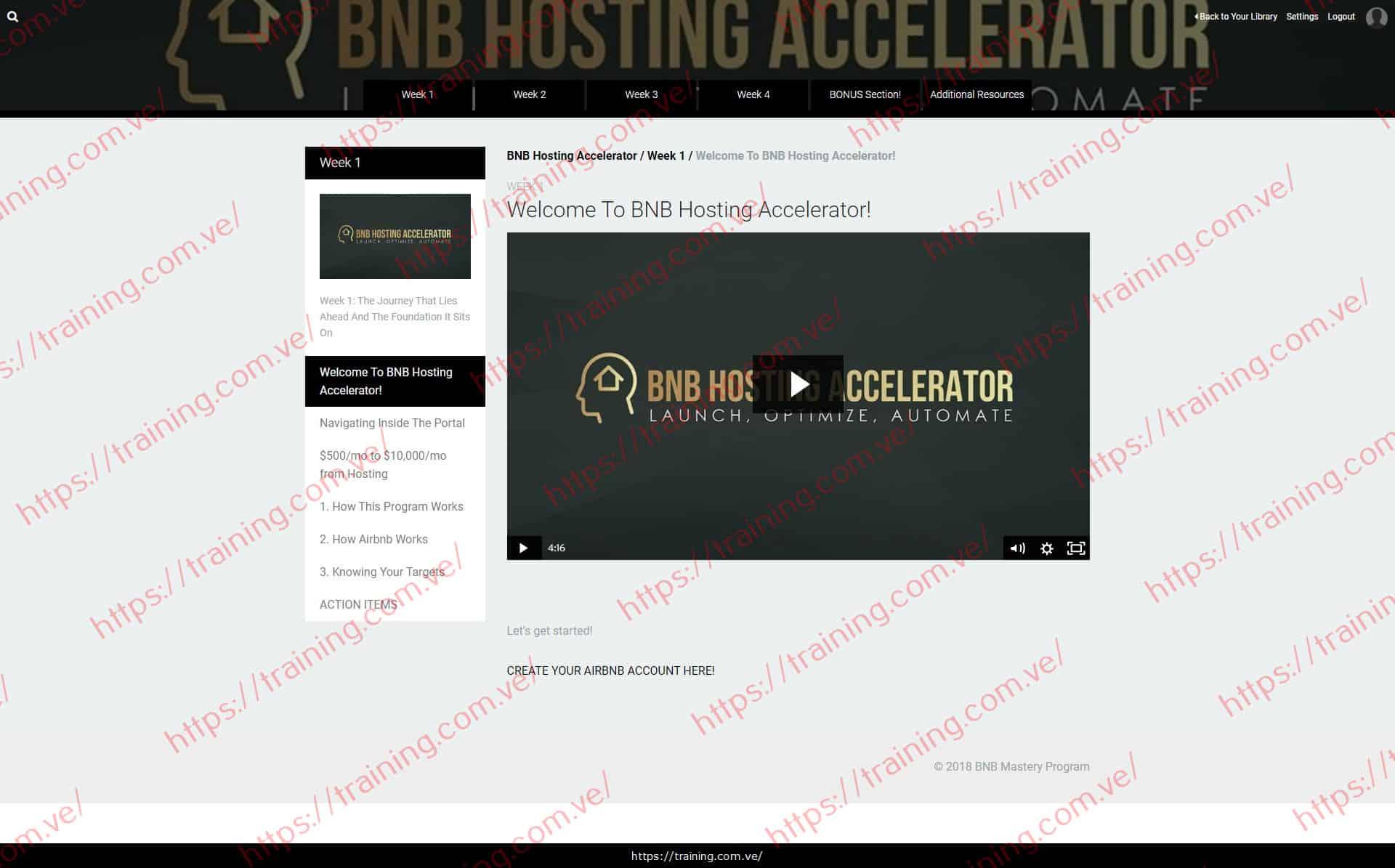 BNB Hosting Accelerator by James Svetec Buy