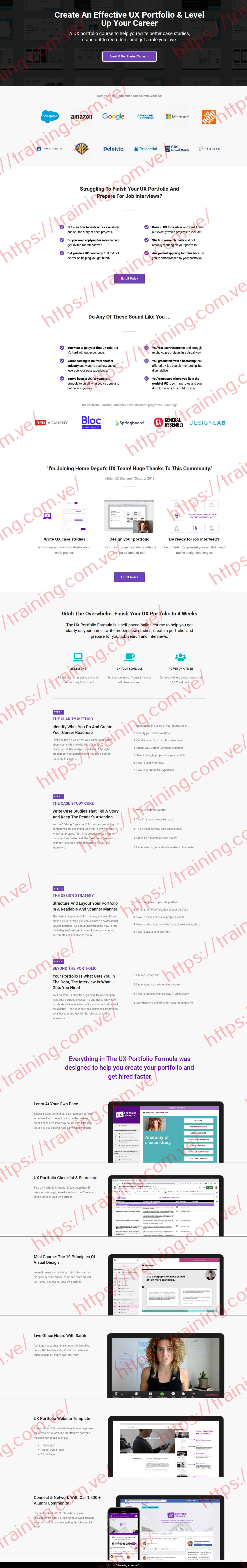 UX Portfolio Formula by Sarah Doody Sales Page