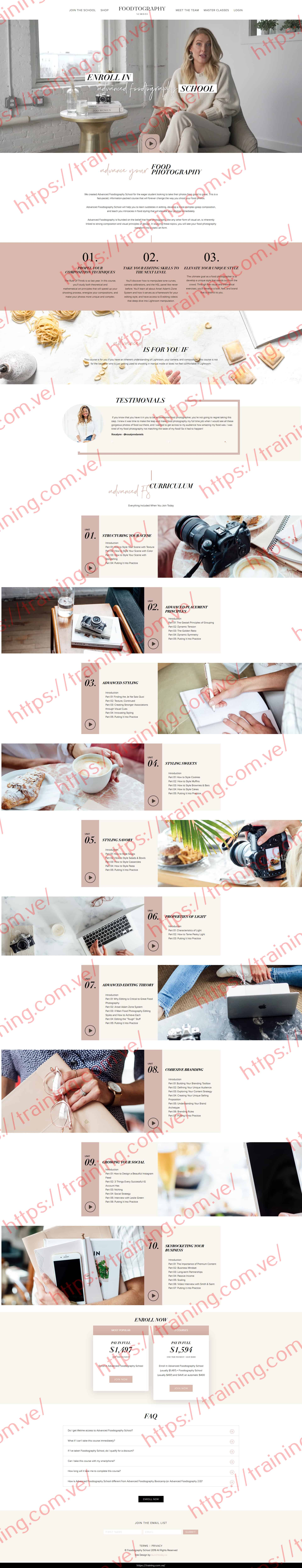 Advanced Foodtography School by Sarah Crawford Sales Page