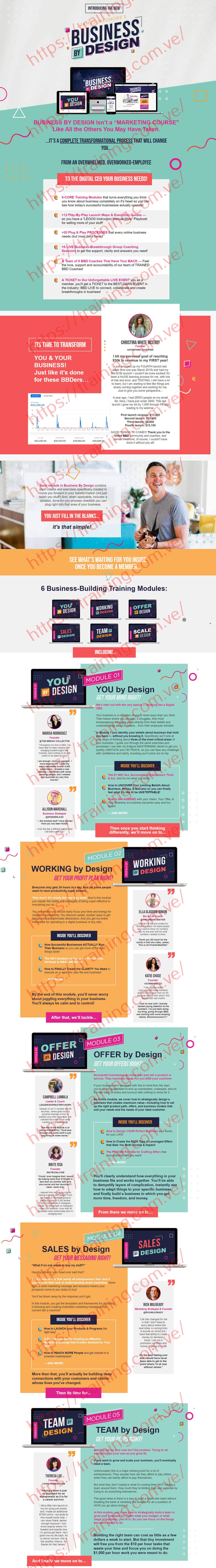 BUSINESS By DESIGN 2020 by James Wedmore Sales page