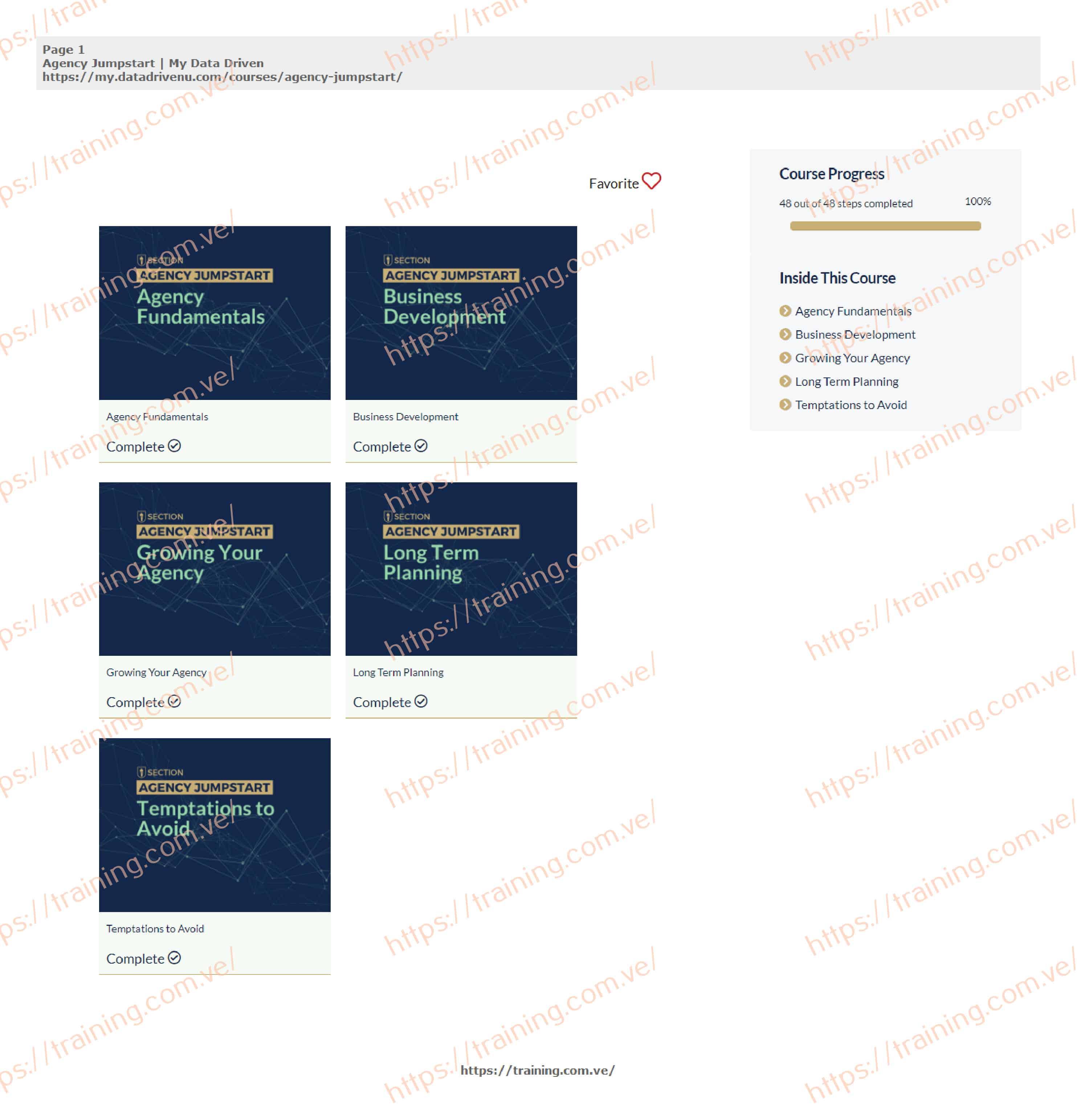 Agency Jumpstart by datadrivenu (Incldes Sales Jumpstart) Download