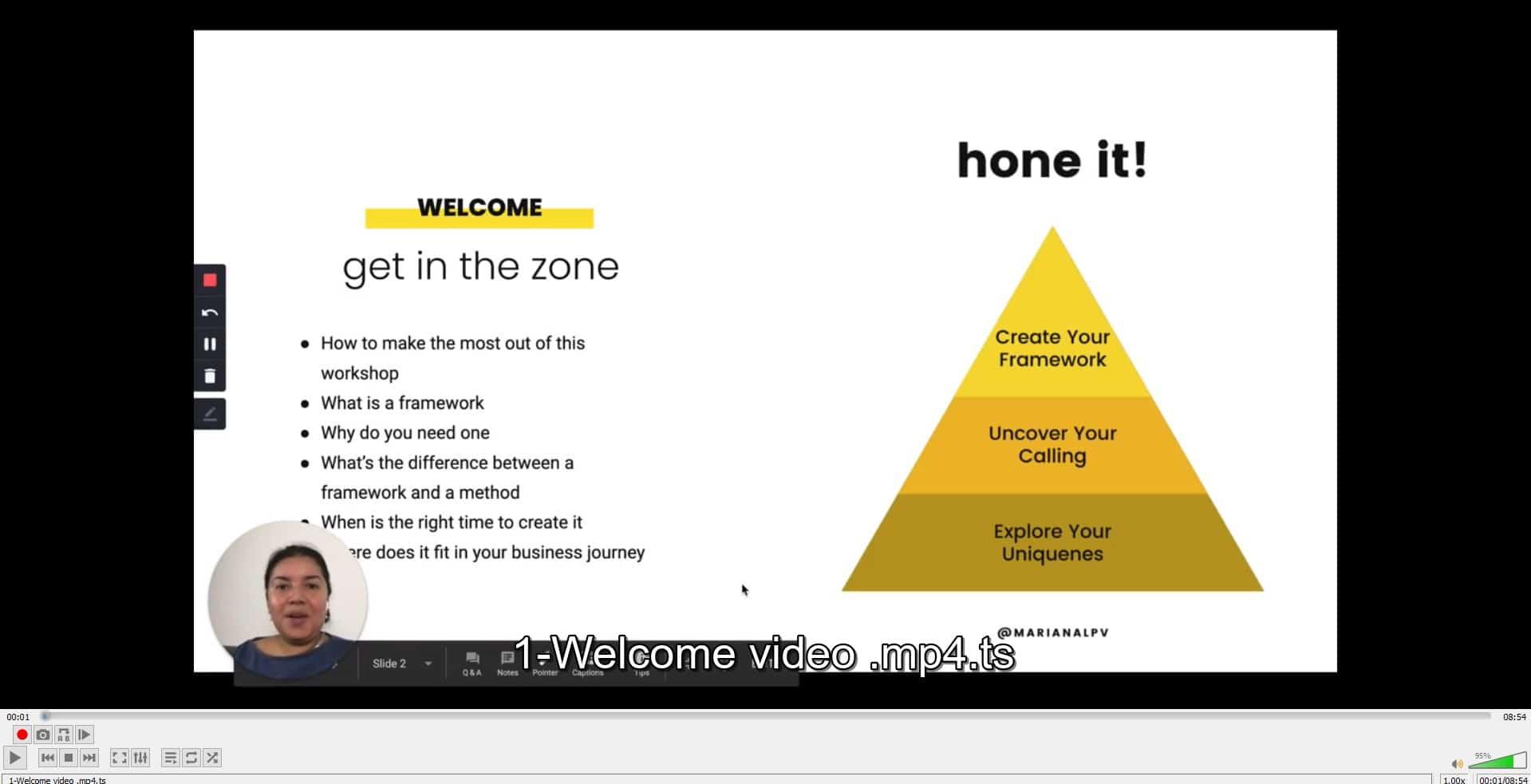 Create your framework by Mariana Peña Offer