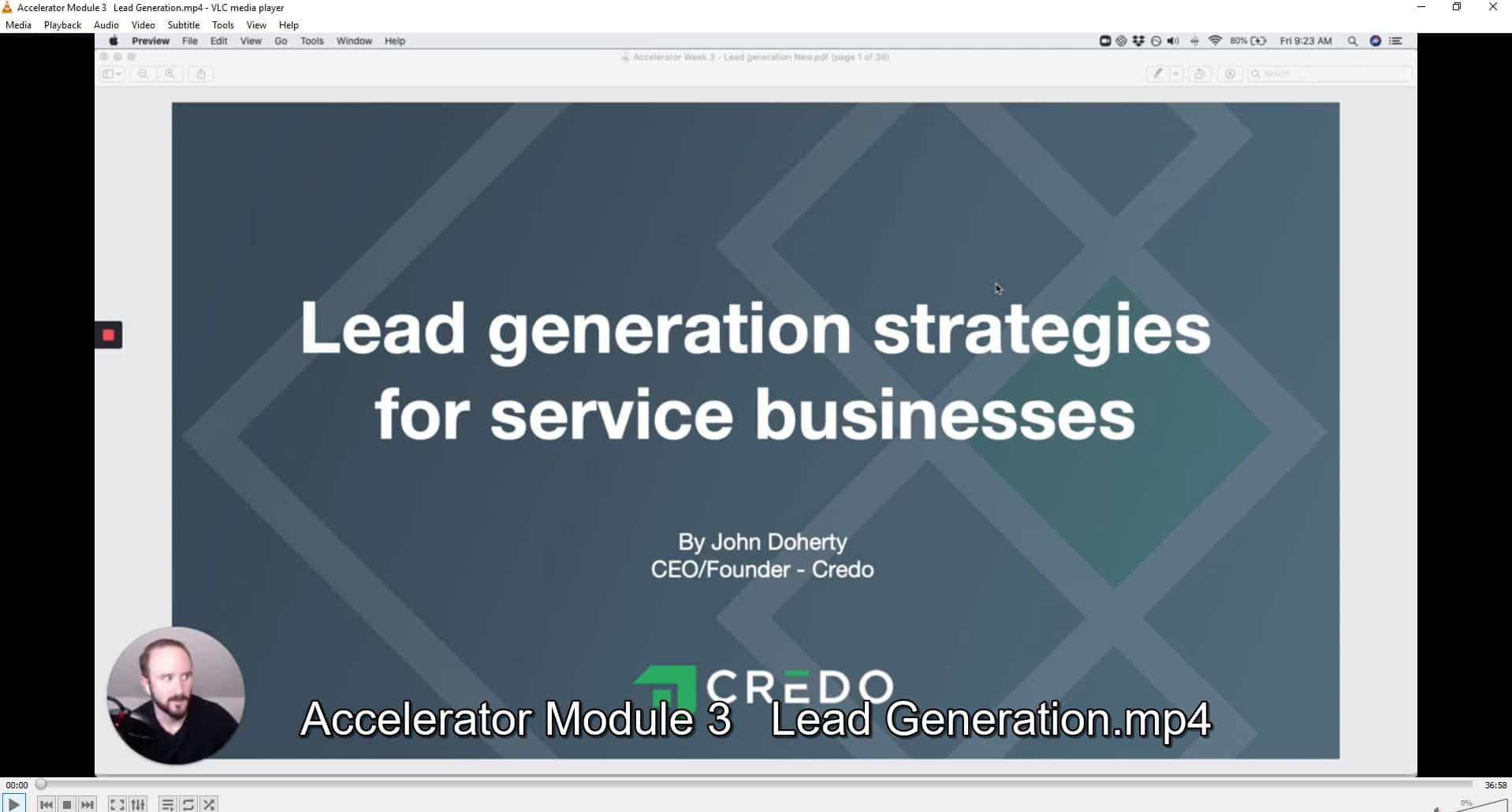 Accelerator Course by John Doherty Credo offer