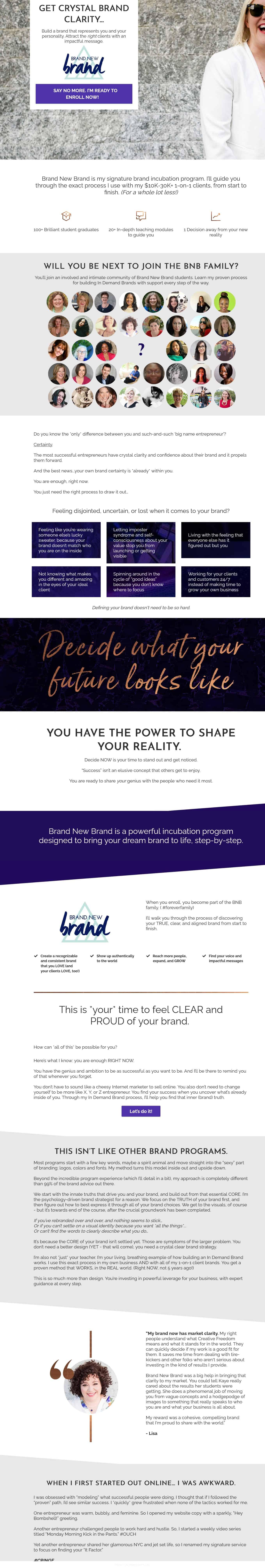 Brand New Brand by Kaye Putnam Sales Page