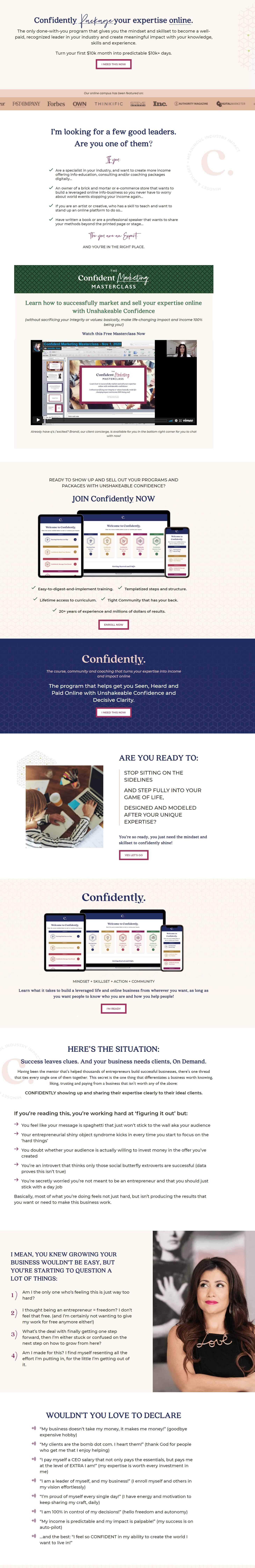 Confidently by Jennifer Kem Sales Page