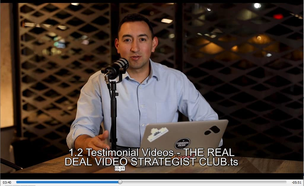 The Real Deal Video Strategist Club by Mark Cloutier Discount