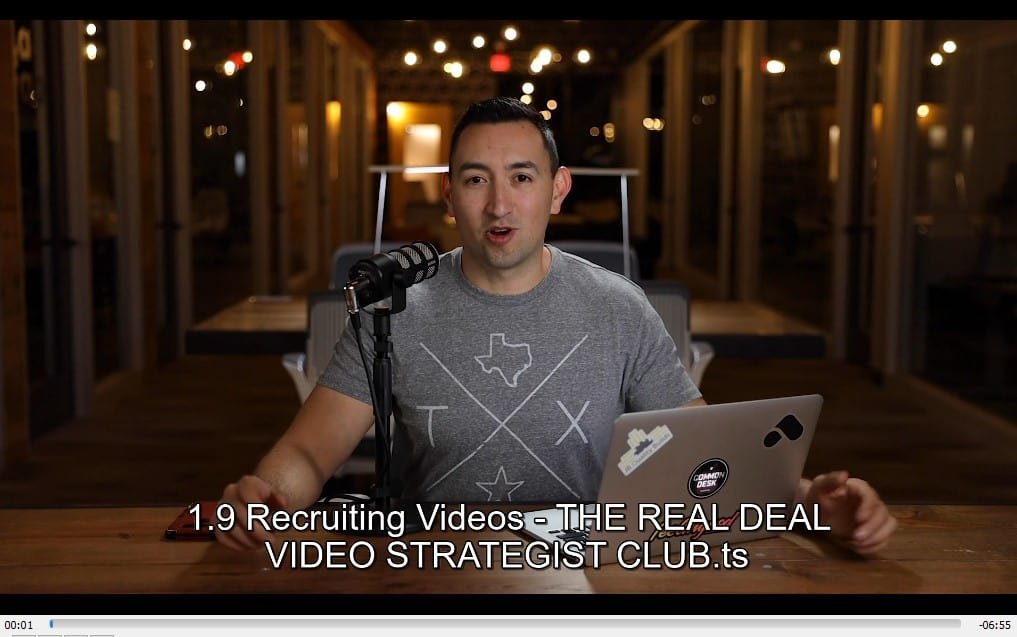 The Real Deal Video Strategist Club by Mark Cloutier Offer
