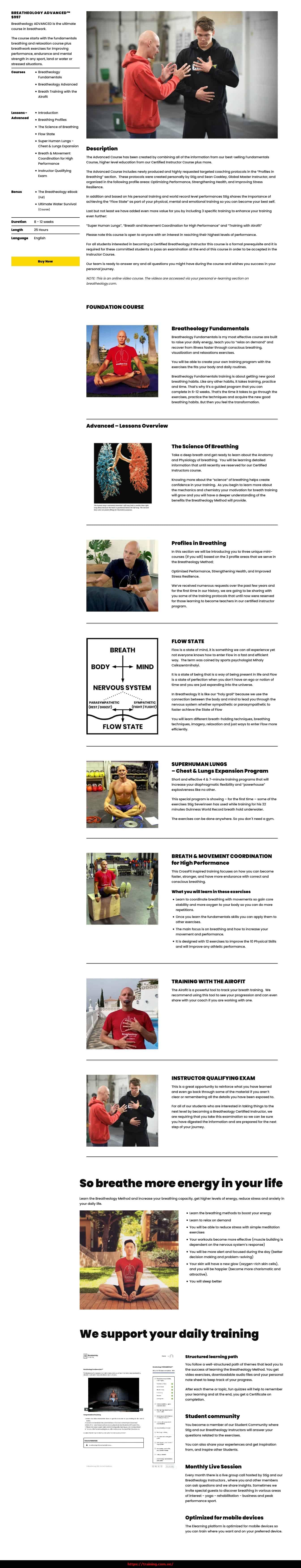Breatheology Advanced by Stig Severinsen Sales Page