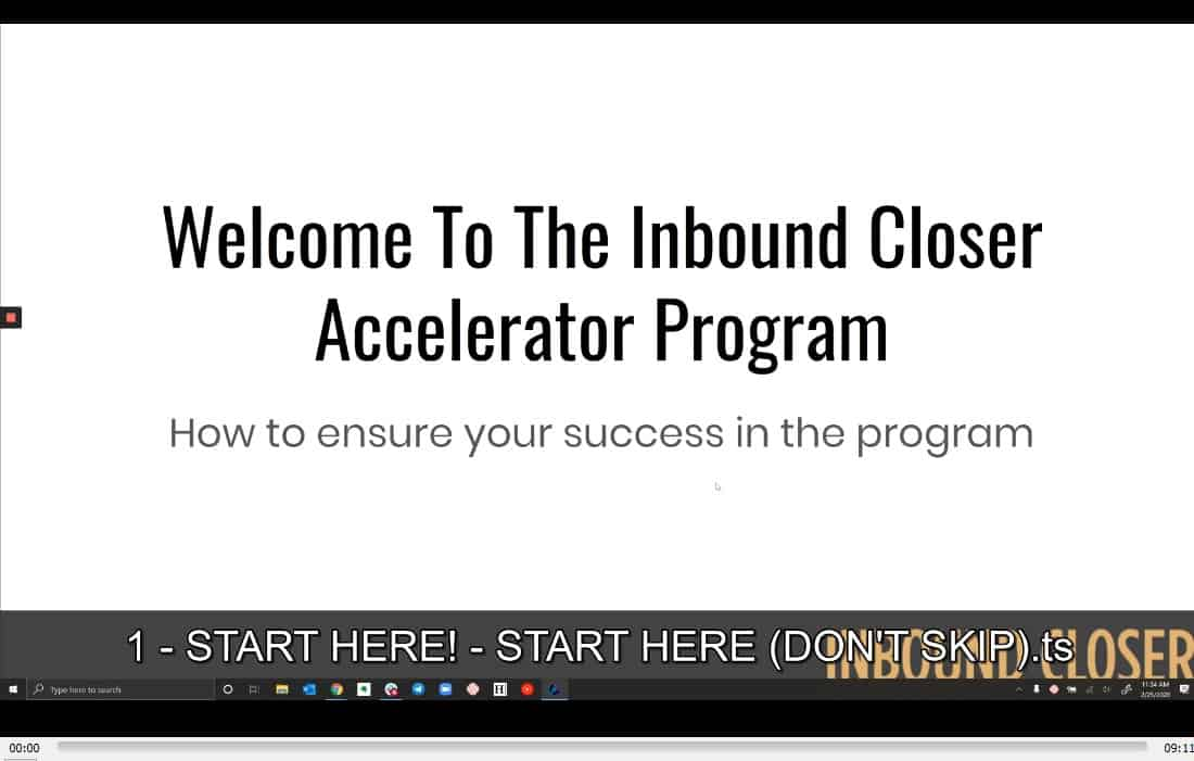 Inbound Closer Certification by Taylor Welch buy