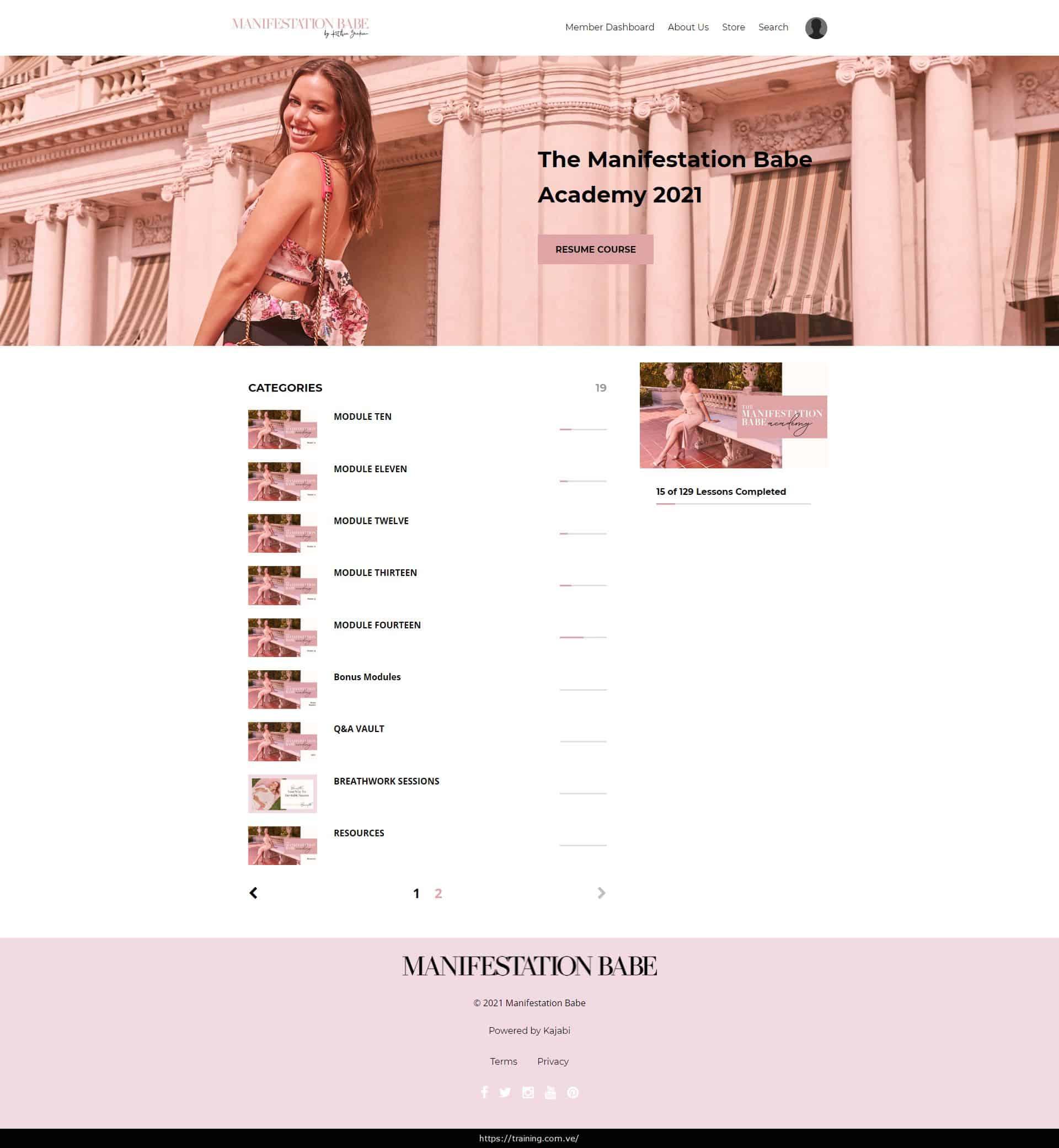 Download Manifestation Babe Academy 2021 by Kathrin Zenkina