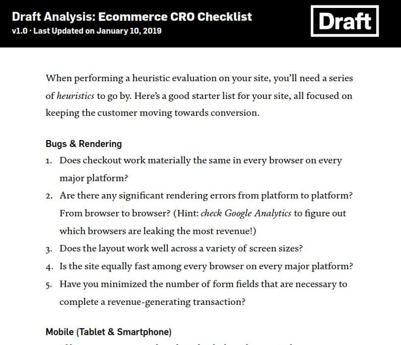 Draft Analysis by Nick Disabato 2