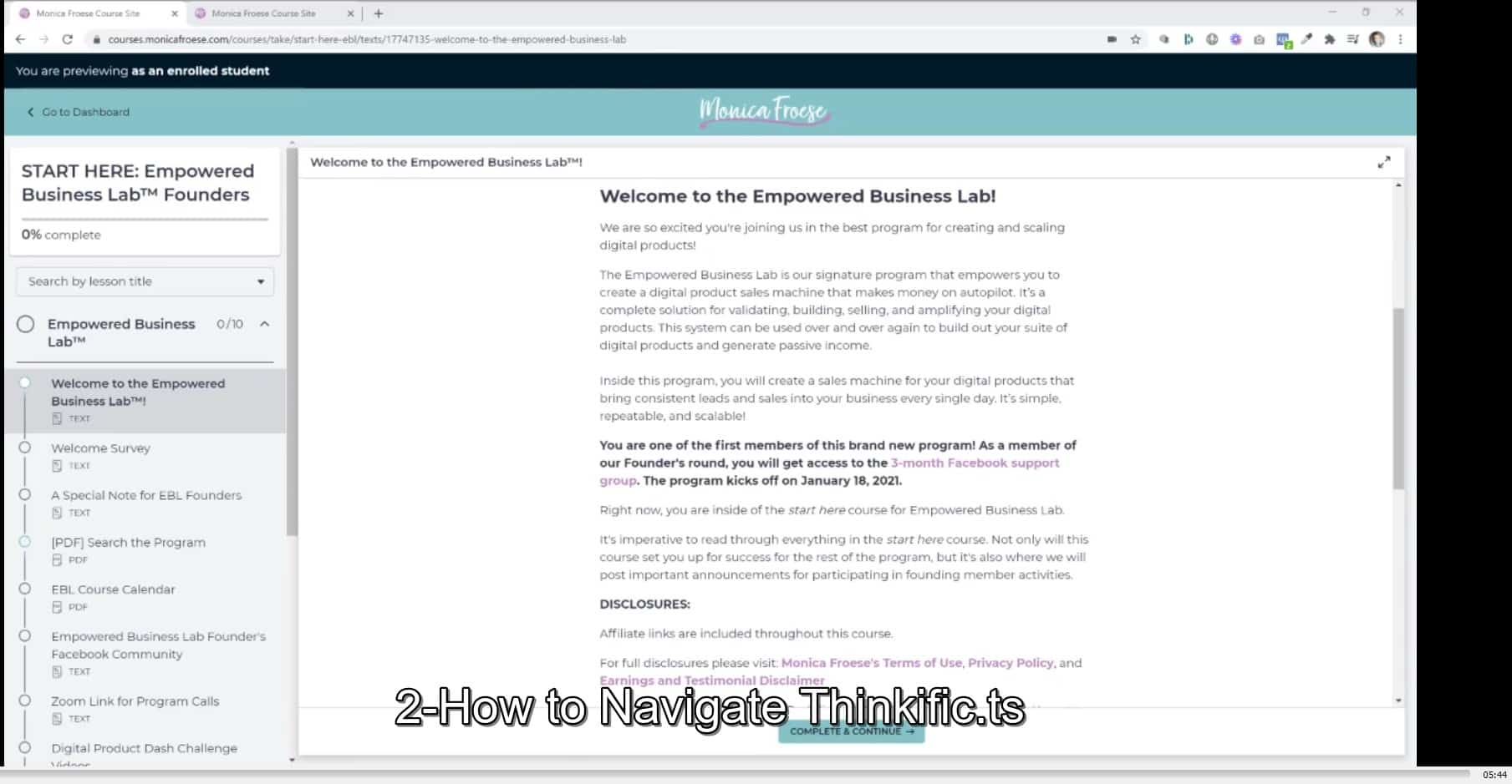 Empowered Business Lab by Monica Froese buy