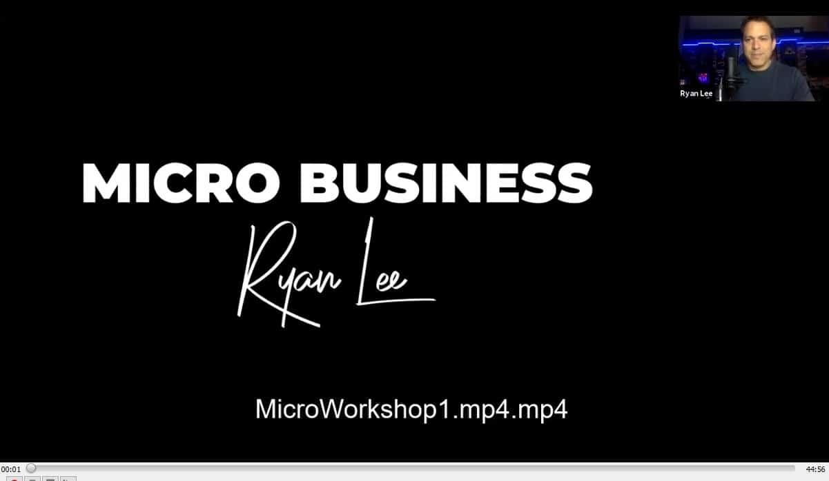 MICRO workshop recordings by Ryan lee buy