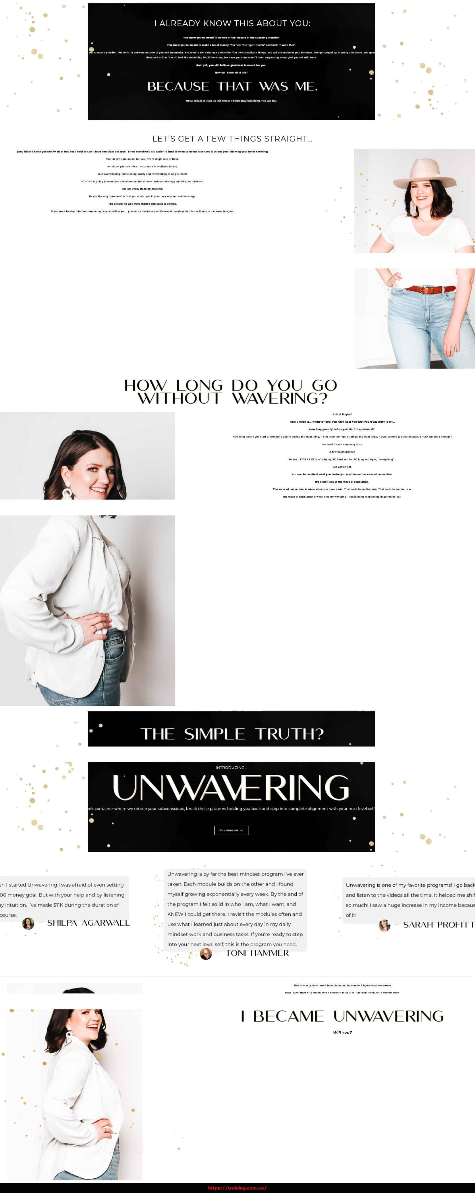 Unwavering 2021 by Taylor Lee sales page
