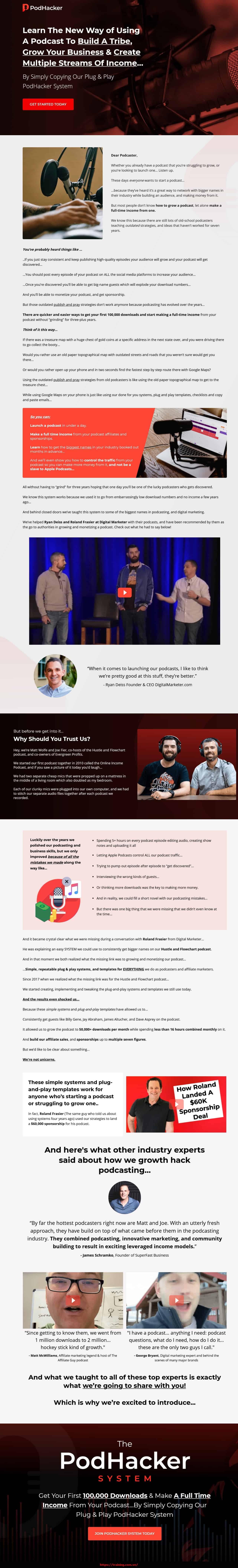 PodHacker by Matt Wolfe sales page