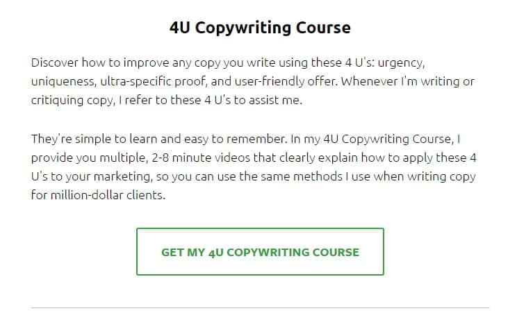 4U Copywriting Course by Ray Mondduke