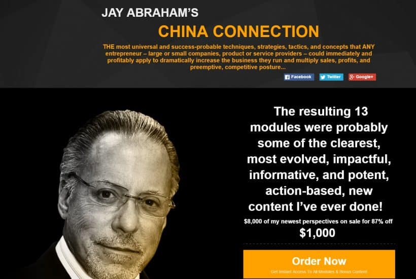 Jay Abraham's China Connection