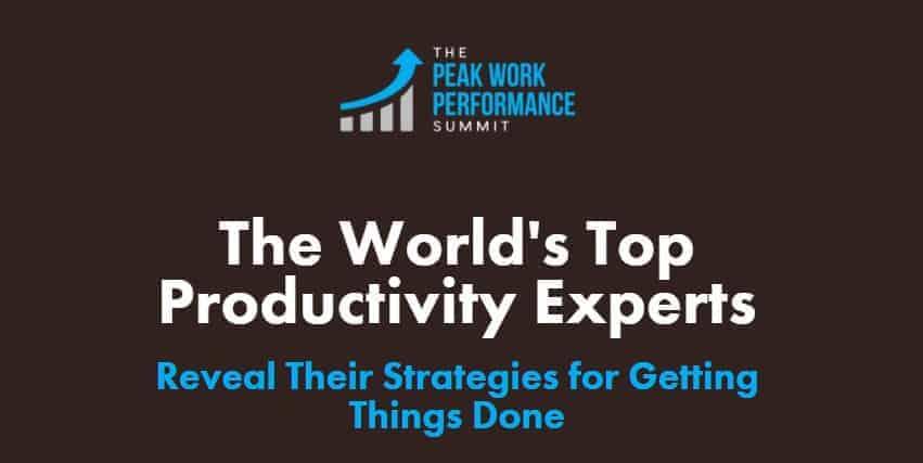 The Peak Work Performance Summit