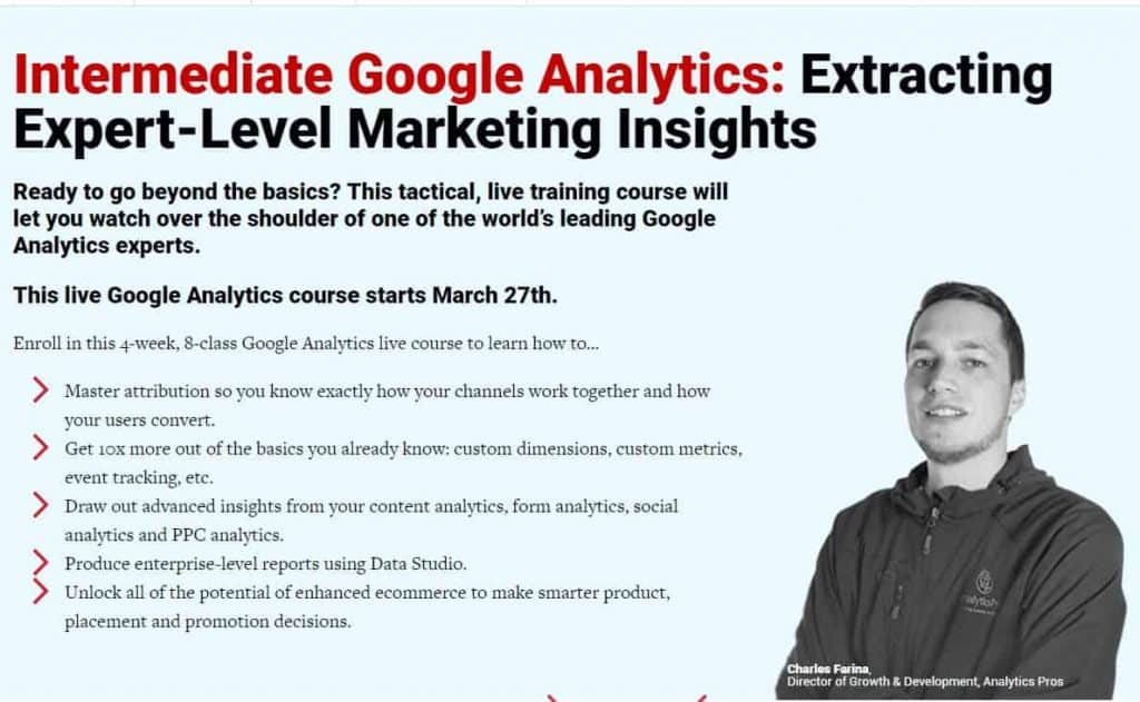 Intermediate Google Analytics by conversionxl