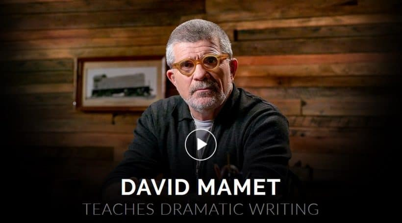 Masterclass David Mamet Teaches Dramatic Writing