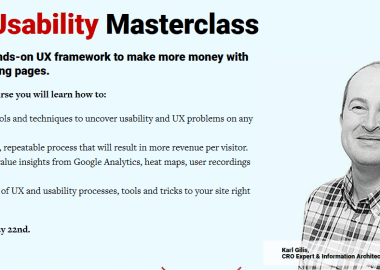 UX and Usability Masterclass By Conversionxl and Karl Gilis